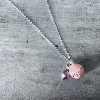 Bola de grossese Rose Mom pendentif