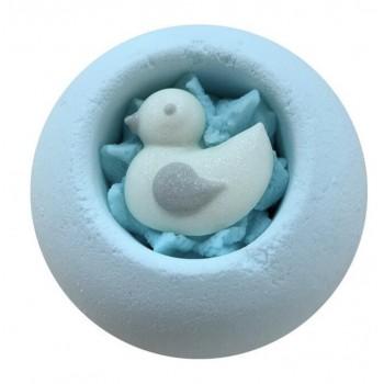 boule de bain canard bleu
