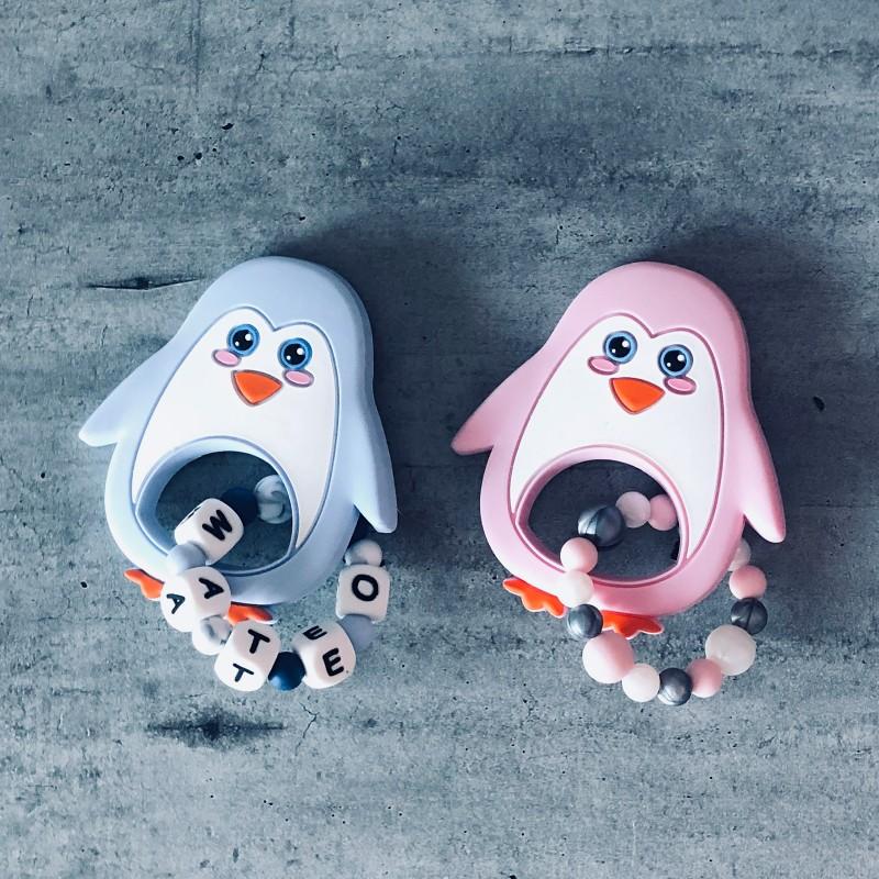 Anneau de dentition personnalisé Pingouin