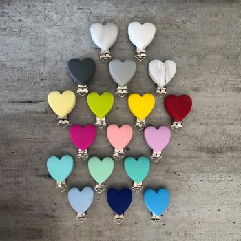 Couleurs du clip Coeur pour attache doudou personnalisée