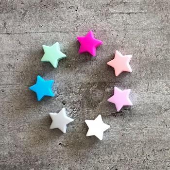 Modèles Petite Étoile porte-clés personnalisé prénom perles