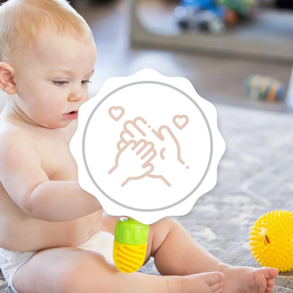 Attache tétine personnalisee aucun rique enfant bébé